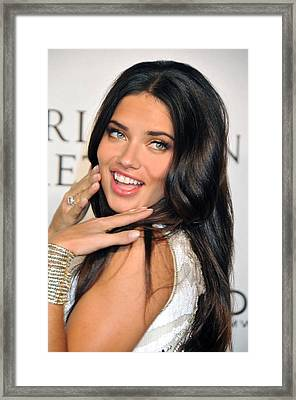 Adriana Lima  At Arrivals For Victorias Framed Print