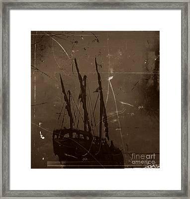 Adrift In A Sea Mist Framed Print