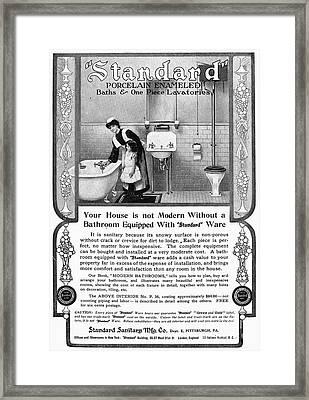 Ads: Bathroom, 1905 Framed Print
