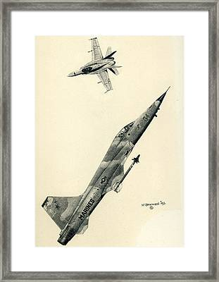 Adversaries Framed Print by Mark Jennings