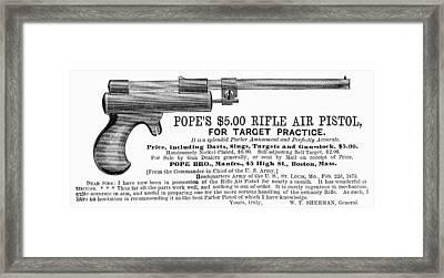 Advertisement: Air Pistol Framed Print by Granger