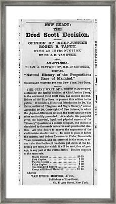 Advertisement For Pamphlet Framed Print by Everett
