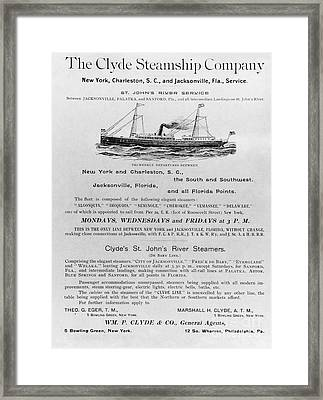 Advertisement: Steamship Framed Print by Granger