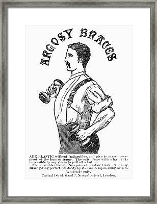 Advertisement: Suspenders Framed Print
