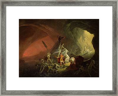 Aeneas And The Sibyl Framed Print by English School