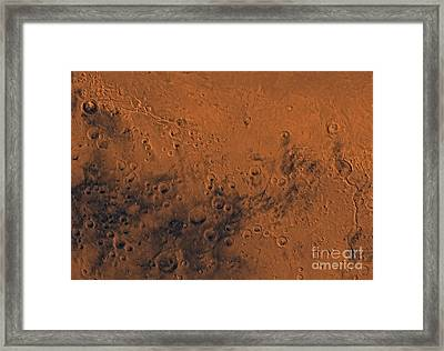 Aeolis Region Of Mars Framed Print