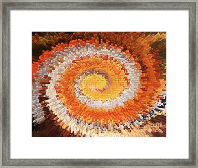Aerial City Swirl Framed Print by Val Miller
