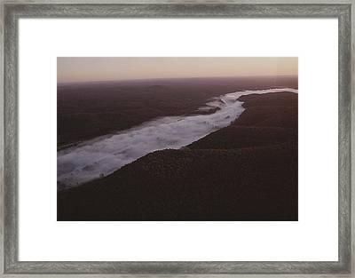 Aerial Of The Buffalo River Framed Print by Randy Olson