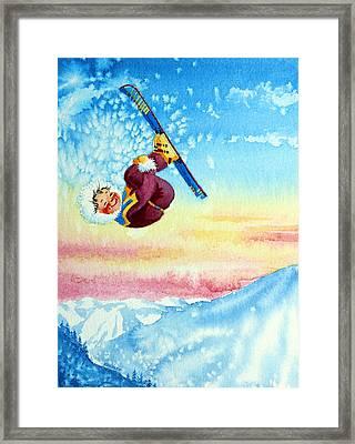 Aerial Skier 13 Framed Print by Hanne Lore Koehler