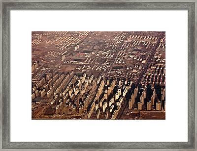 Aerial View Of Beijing Suburb, Tongzhou Distr Framed Print by Jialiang Gao