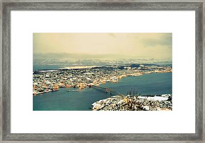 Aerial View Of City Framed Print by Piero Damiani