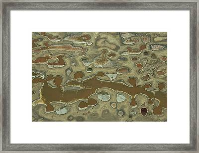 Aerial View Of Dyeing Pits Framed Print by Bobby Haas