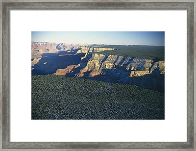 Aerial View Of Kaibab Framed Print by Norbert Rosing