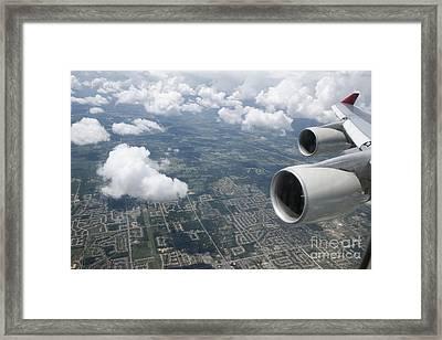 Aerial View Of Landscape Framed Print