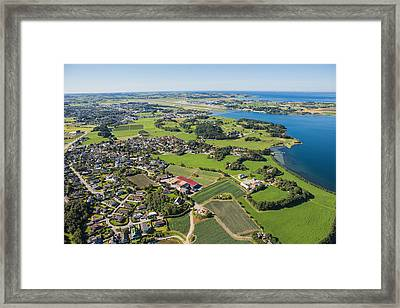 Aerial View Of Madla And Sola Airport Framed Print by Sindre Ellingsen