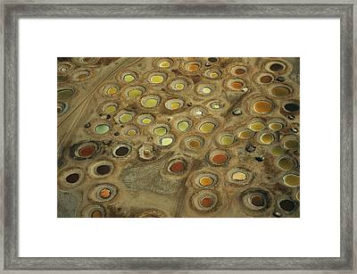 Aerial View Of Multi-colored Dyeing Framed Print by Bobby Haas