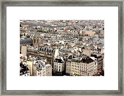 Aerial View Of Paris Framed Print