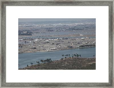 Aerial View Of Sendai Japan On March 19 Framed Print by Everett