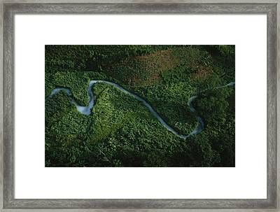 Aerial View Of The El Almandro Tinted Framed Print by Stephen Alvarez