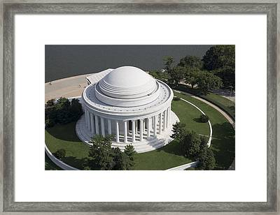 Aerial View Of The Thomas Jefferson Framed Print