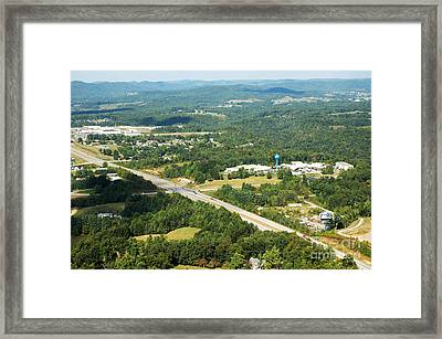 Aerial View Summersville West Virginia Framed Print by Thomas R Fletcher