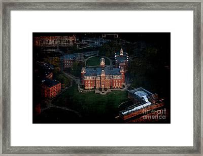 Aerial Woodburn Hall In Evening Framed Print by Dan Friend