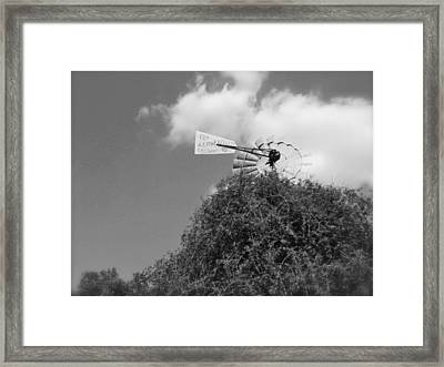 Aermoter Framed Print by Amber Hennessey