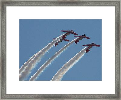 Aero Shell Team Framed Print by Julie Grace
