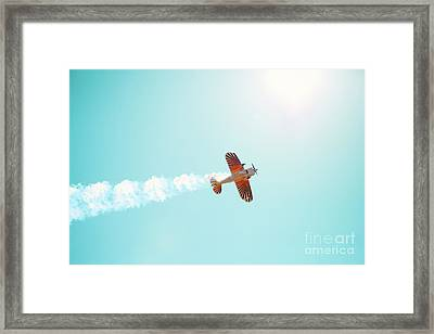 Aerobatic Biplane Inverted Framed Print by Kim Fearheiley
