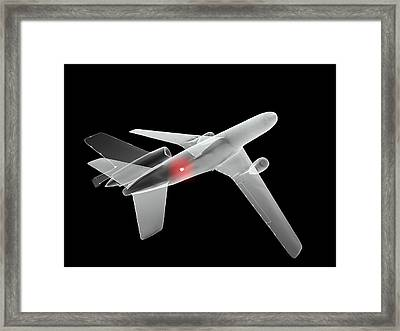 Aeroplane Bomb, Computer Artwork Framed Print by Christian Darkin
