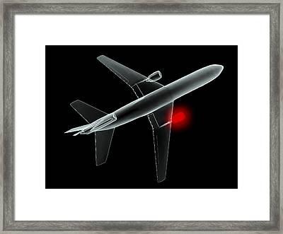 Aeroplane, Simulated X-ray Artwork Framed Print by Christian Darkin
