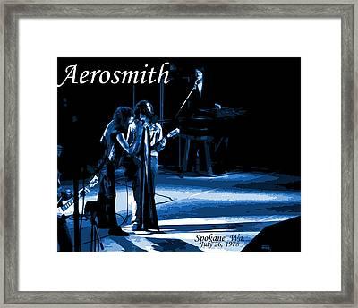 Aerosmith In Spokane 12c Framed Print by Ben Upham