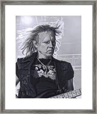Aerosmith Framed Print by Traci Cottingham
