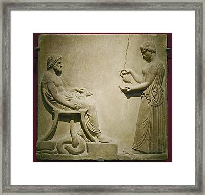 Aesculapius, Roman God Framed Print by Colin Cuthbert
