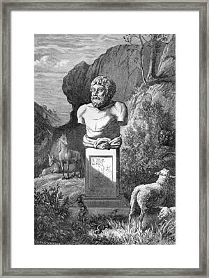 Aesop, Ancient Greek Fabulist Framed Print by