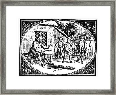 Aesop: Father & His Sons Framed Print