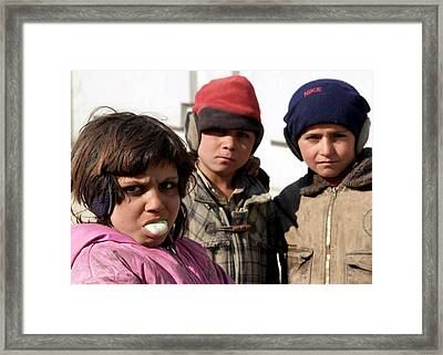 Afghan Children Framed Print