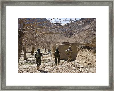Afghan Commandos Are Guided Framed Print by Stocktrek Images