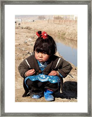 Afghan Girl Framed Print