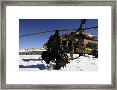 Afghan National Army Air Corps Members Framed Print