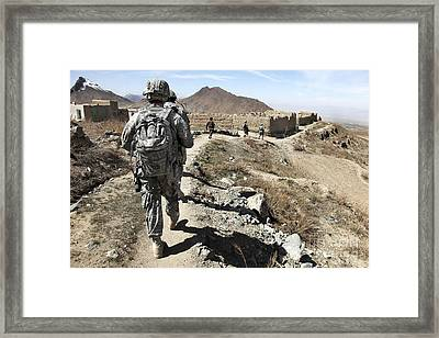 Afghan National Army And U.s. Soldiers Framed Print