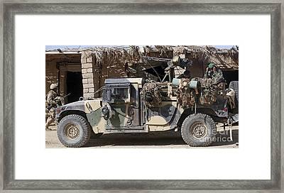 Afghan National Army Soldiers Prepare Framed Print
