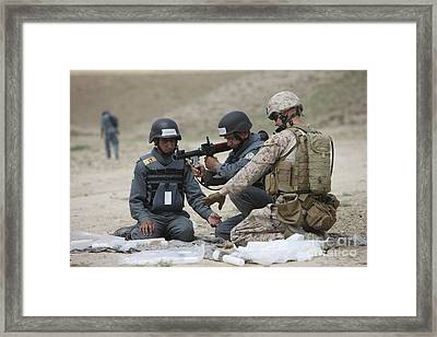 Afghan Police Students Assemble A Rpg-7 Framed Print
