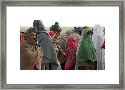 Afghani Refugees In Sakhi Camp Framed Print by Everett