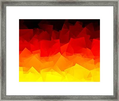 Framed Print featuring the digital art Afire by Jeff Iverson