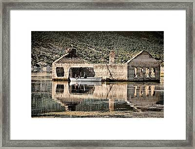 Framed Print featuring the photograph Afloat by Okan YILMAZ