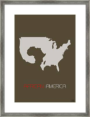 African America Poster Framed Print by Naxart Studio