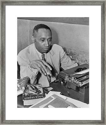 African American Author George Framed Print by Everett