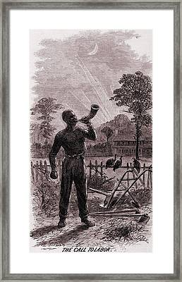 African American Blowing The Wake-up Framed Print