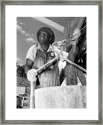 African American Construction Worker Framed Print by Everett